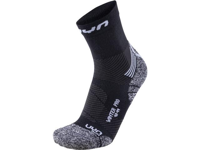 UYN Winter Pro Run Socks Herren black/pearl grey